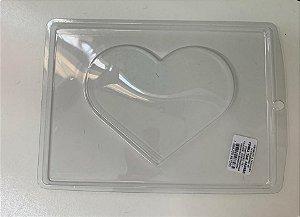 Forma de Acetato coração plano  Mod.226 - Crystal - Rizzo Embalagens