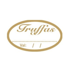 Etiqueta Adesiva Truffas - 100 unidades - Rizzo Embalagens