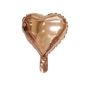 """Balão de Festa Microfoil Coração Rose Gold - 9"""" - 01 Unidade - Rizzo Embalagens"""