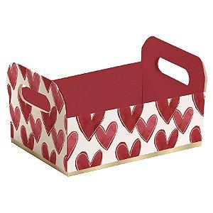 Caixote de Papel Cartão Lover - 1 unidade - Cromus - Rizzo Embalagens