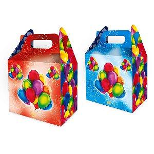 Caixa Surpresa Maleta  Festa Baloes 08 Unidades - Regina - Rizzo Festas