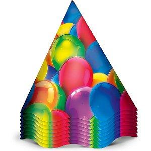 Chapeu Aniversario Festa Baloes 08 Unidades - Regina - Rizzo Festas