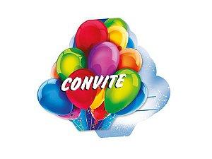 Convite Grande Festa Baloes 08 Unidades - Regina - Rizzo Festas