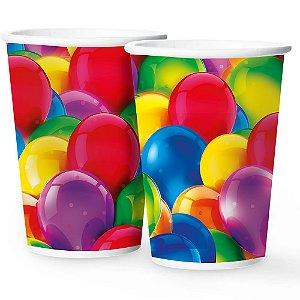 Copo Papel 180Ml  Festa Baloes 12 Unidades - Regina - Rizzo Festas