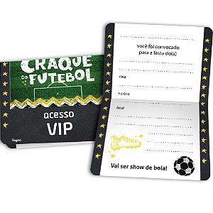 Convite Festa Futebol 12 Unidades - Regina - Rizzo Festas