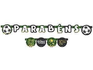 Faixa Parabens Festa Futebol 01 Unidade - Regina - Rizzo Festas
