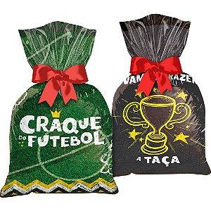 Sacola Plastica Festa Futebol 12 Unidades - Regina - Rizzo Festas