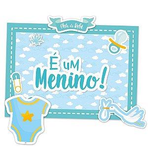 Kit Decorativo Festa Festa Cha de Bebe Menino 01 Unidade - Regina - Rizzo Festas