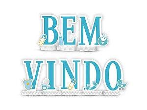 Decoracao De Mesa Festa Cha de Bebe Menino Bem Vindo 01 Unidade - Regina - Rizzo Festas