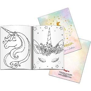 Lembranca Livro Para Colorir Festa Unicornio 2 08 Unidades - Regina - Rizzo Festas