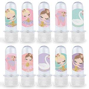 Mini Tubete Lembrancinha Festa Bailarina - 8cm - 20 unidades - Transparente -  Rizzo Embalagens e Festas