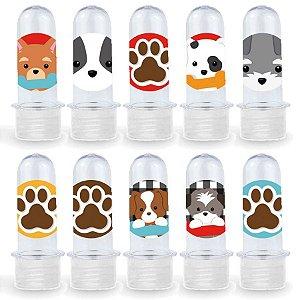 Mini Tubete Lembrancinha Festa Cachorrinhos - 8cm - 20 unidades - Transparente -  Rizzo Embalagens e Festas