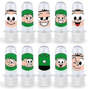 Mini Tubete Lembrancinha Festa Cebolinha - 8cm - 20 unidades - Transparente - Rizzo Embalagens e Festas