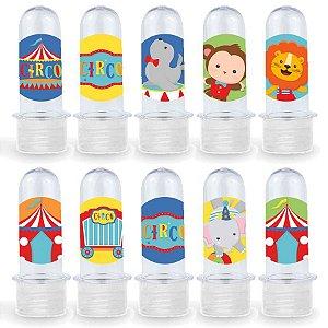 Mini Tubete Lembrancinha Festa Circo 2 - 8cm - 20 unidades - Transparente -  Rizzo Embalagens e Festas