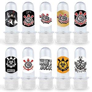 Mini Tubete Lembrancinha Festa Corinthians - 8cm - 20 unidades - Transparente -  Rizzo Embalagens e Festas