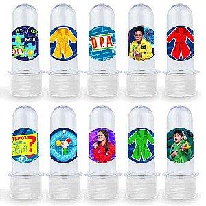 Mini Tubete Lembrancinha Festa DPA detetives do Prédio Azul - 8cm - 20 unidades - Transparente -  Rizzo Embalagens e Fes