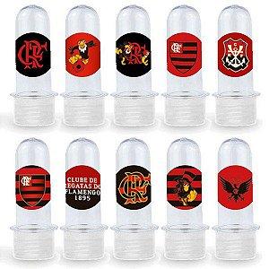 Mini Tubete Lembrancinha Festa Flamengo - 8cm - 20 unidades - Transparente -  Rizzo Embalagens e Festas