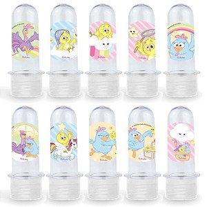 Mini Tubete Lembrancinha Festa Galinha Pintadinha Candy - 8cm - 20 unidades - Transparente -  Rizzo Embalagens e Festas