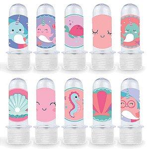 Mini Tubete Lembrancinha Festa Narval - 8cm - 20 unidades - Transparente -  Rizzo Embalagens e Festas