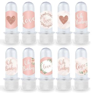 Mini Tubete Lembrancinha Festa Oh Baby Girl - 8cm - 20 unidades - Transparente -  Rizzo Embalagens e Festas