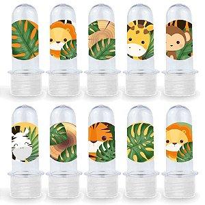 Mini Tubete Lembrancinha Festa Safari 2 - 8cm - 20 unidades - Transparente -  Rizzo Embalagens e Festas