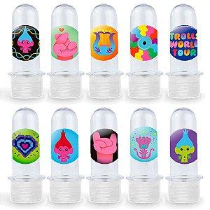 Mini Tubete Lembrancinha Festa Trolls 2 - 8cm - 20 unidades - Transparente -  Rizzo Embalagens e Festas