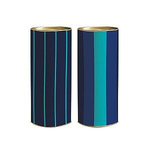 Lata para Presente Giordano 20x9,1cm - 01 unidade - Cromus - Rizzo Embalagens
