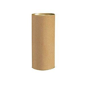 Lata para Presente P 20x9,1cm Liso Kraft - 01 unidade - Rizzo Embalagens