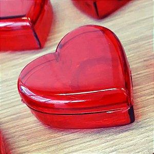 Coração de Acrílico Vermelho Pequeno 5cm x 5cm x 2cm - 10 unidades - Rizzo
