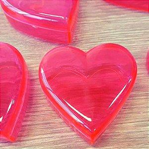 Coração de Acrílico Rosa Pequeno 5cm x 5cm x 2cm - 10 unidades - Rizzo Embalagens