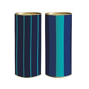 Lata para Presente Giordano 27x10cm - 01 unidade - Cromus - Rizzo Embalagens