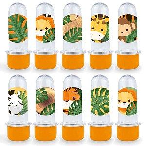 Mini Tubete Lembrancinha Festa Safari 2 - 8cm - 20 unidades - Laranja -  Rizzo Embalagens e Festas
