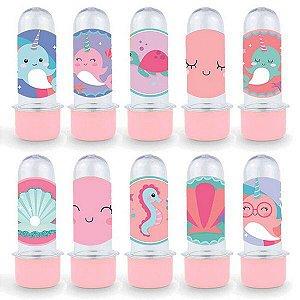 Mini Tubete Lembrancinha Festa Narval - 8cm - 20 unidades - Rosa -  Rizzo Embalagens e Festas