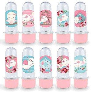 Mini Tubete Lembrancinha Festa Jardim Encantado - 8cm - 20 unidades - Rosa -  Rizzo Embalagens e Festas