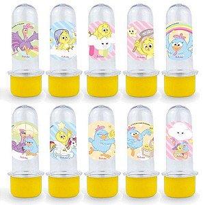 Mini Tubete Lembrancinha Festa Galinha Pintadinha Candy - 8cm - 20 unidades - Amarelo -  Rizzo Embalagens e Festas