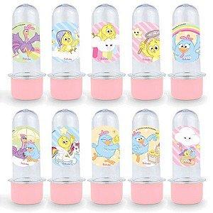 Mini Tubete Lembrancinha Festa Galinha Pintadinha Candy - 8cm - 20 unidades - Rosa -  Rizzo Embalagens e Festas