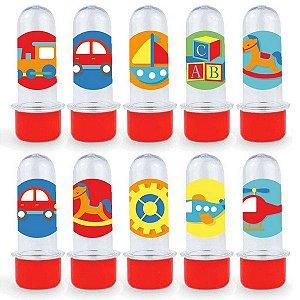 Mini Tubete Lembrancinha Festa Fábrica de Brinquedos - 8cm - 20 unidades - Vermelho -  Rizzo Embalagens e Festas