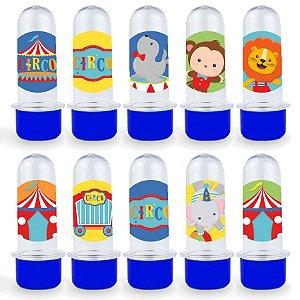 Mini Tubete Lembrancinha Festa Circo 2 - 8cm - 20 unidades - Azul Escuro -  Rizzo Embalagens e Festas