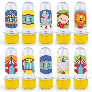 Mini Tubete Lembrancinha Festa Circo 2 - 8cm - 20 unidades - Amarelo -  Rizzo Embalagens e Festas