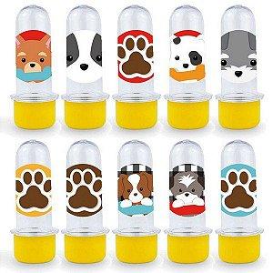 Mini Tubete Lembrancinha Festa Cachorrinhos - 8cm - 20 unidades - Amarelo -  Rizzo Embalagens e Festas