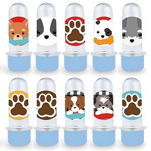 Mini Tubete Lembrancinha Festa Cachorrinhos - 8cm - 20 unidades - Azul -  Rizzo Embalagens e Festas