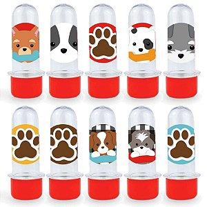 Mini Tubete Lembrancinha Festa Cachorrinhos - 8cm - 20 unidades - Vermelho -  Rizzo Embalagens e Festas