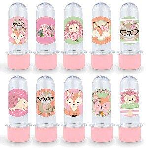 Mini Tubete Lembrancinha Festa Bosque dos Sonhos - 8cm - 20 unidades - Rosa -  Rizzo Embalagens e Festas