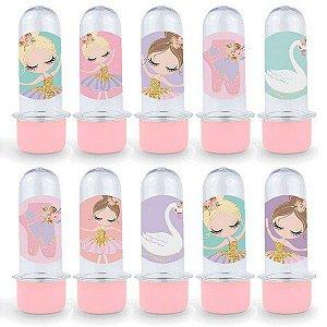 Mini Tubete Lembrancinha Festa Bailarina - 8cm - 20 unidades - Rosa -  Rizzo Embalagens e Festas