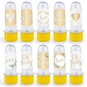 Mini Tubete Lembrancinha Festa Oh Baby Boy - 8cm - 20 unidades - Amarelo -  Rizzo Embalagens e Festas