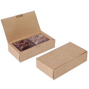 Caixa para 02 Brownies Kraft 17x9,5x4cm - 10 unidades - Cromus Profissional - Rizzo