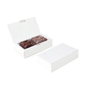 Caixa para 02 Brownies Branco 17x9,5x4cm - 10 unidades - Cromus Profissional - Rizzo
