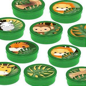 Latinha Lembrancinha Festa Safari 2 - 8cm - 20 unidades - Verde -  Rizzo Embalagens e Festas