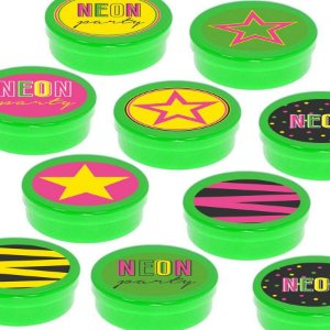 Latinha Lembrancinha Festa Neon - 8cm - 20 unidades - Verde -  Rizzo Embalagens e Festas