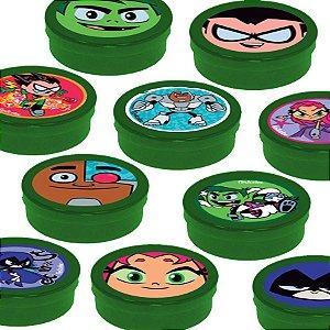 Latinha Lembrancinha Festa Jovens Titãs - 8cm - 20 unidades - Verde -  Rizzo Embalagens e Festas